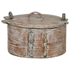 Small 18th Century Swedish Folk Art Bentwood Box