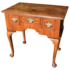 Small 18th Century Walnut Lowboy Dressing Table Vanity