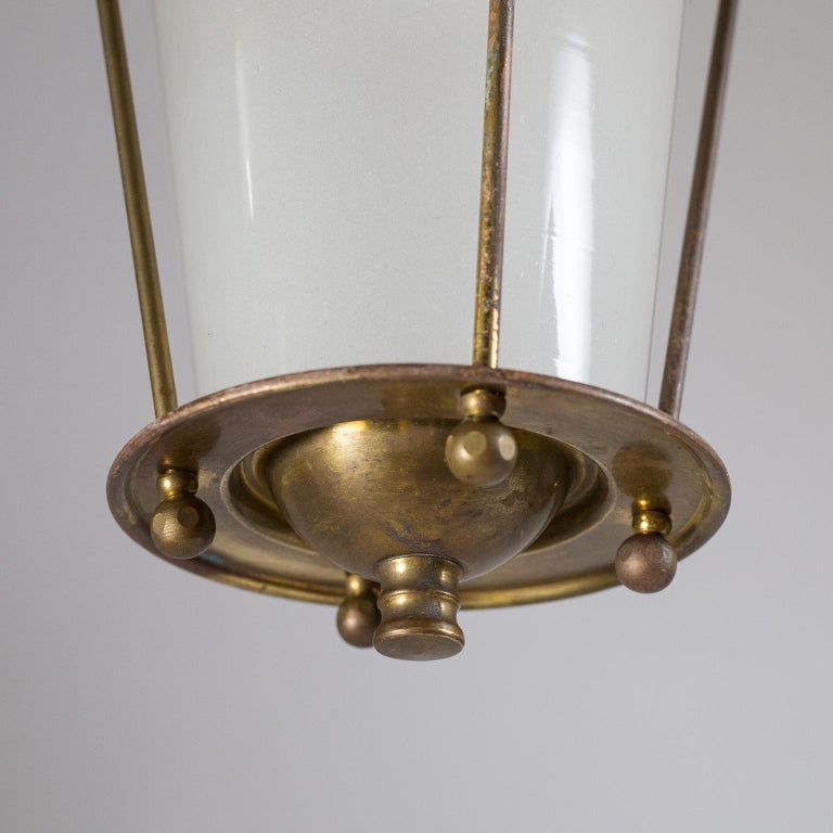 Small 1940s French Brass Lantern For Sale 5