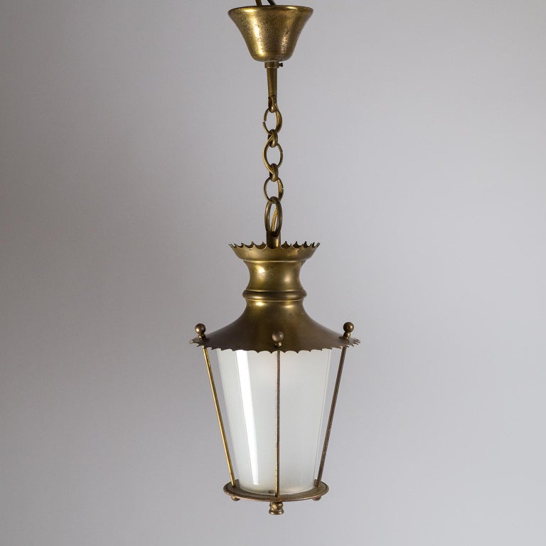 Small 1940s French Brass Lantern For Sale 8