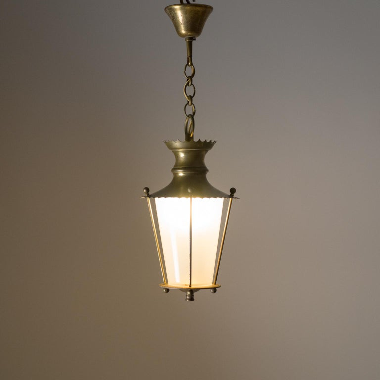 Small 1940s French Brass Lantern For Sale 9