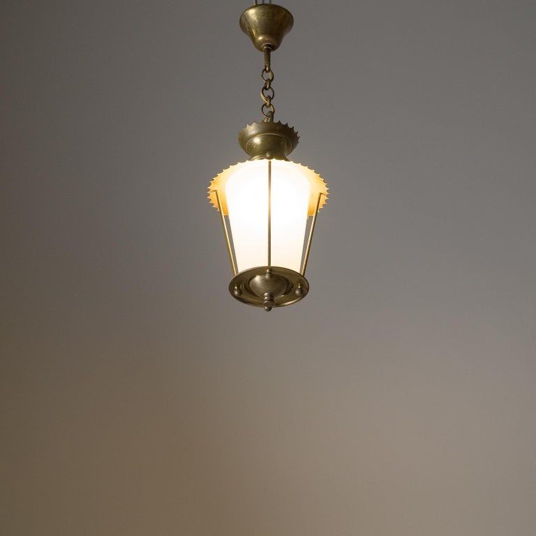 Small 1940s French Brass Lantern For Sale 10