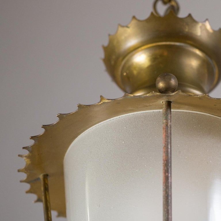 Small 1940s French Brass Lantern For Sale 3