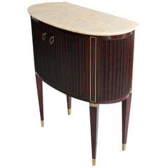Small 1940s Italian Cabinet Onyx Top and Brass, Attributed to Osvaldo Borsani
