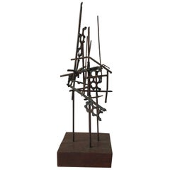 Small 1950s Welded Iron Abstract Sculpture