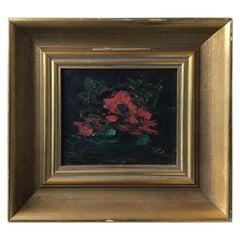 Small 1950s Zaza Meuli Abstract Painting