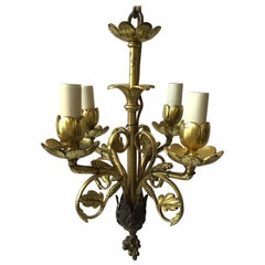 Small 19th Century Brass Chandelier