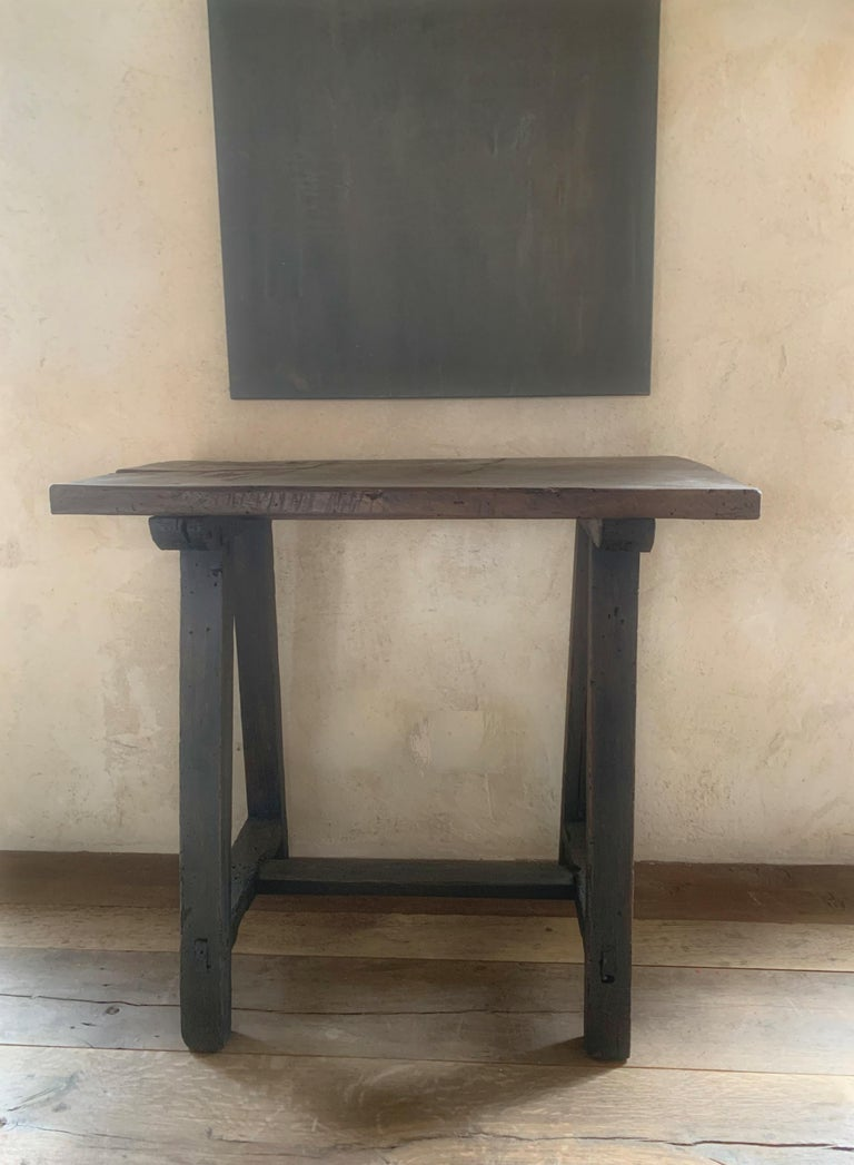Hand-Crafted Small 19th Century Console Side Table