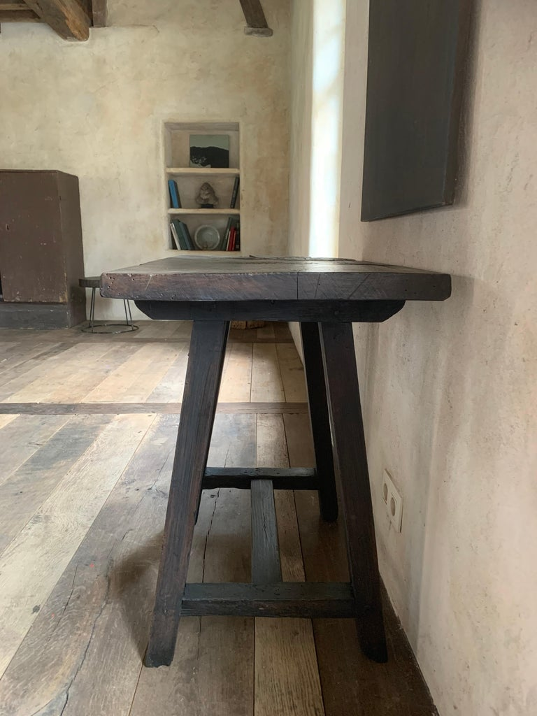 Chestnut Small 19th Century Console Side Table