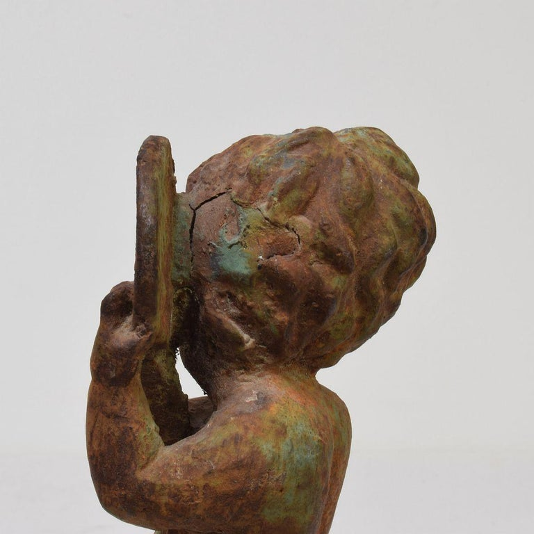 Small 19th Century French Cast Iron Angel For Sale 14