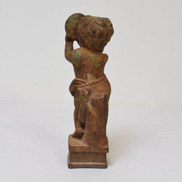 Small 19th Century French Cast Iron Angel For Sale 1