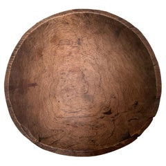 Small 19th Century French Elm Bowl