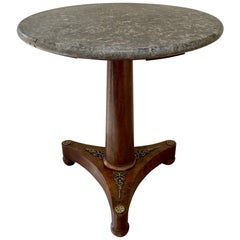 Small 19th Century French Empire Gueridon Marble-Top Centre Table