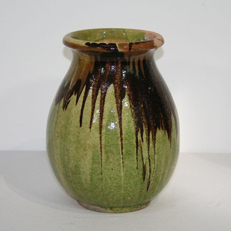 Small 19th Century French Glazed Terracotta Biot Jar In Good Condition For Sale In Amsterdam, NL