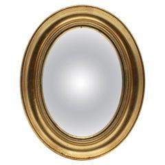 Small 19th Century French Napoleon III Convex Mirror