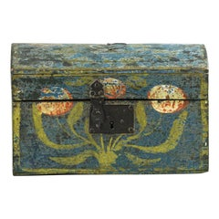 Small 19th Century French Normandy Marriage Chest