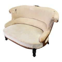 Small 19th Century French Settee or Large Armchair