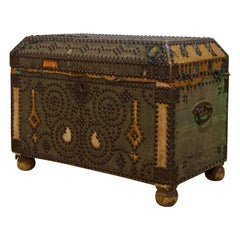 Small 19th Century French Studded Chest, Trunk
