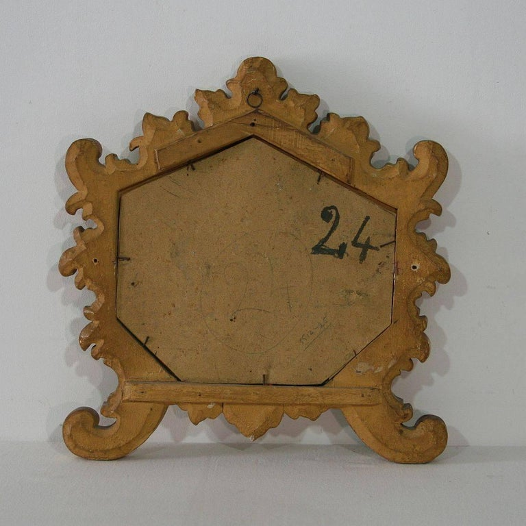Small 19th Century Italian Giltwood Baroque Style Mirror For Sale 3