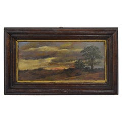 Small 19th Century Landscape Oil Painting by German Painter Dettenhofer, 1880