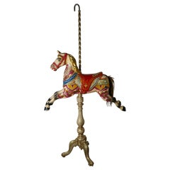 Small 19th Century Painted Wooden Carousel Galloper or Fair Ground Horse