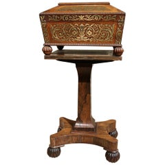 Small 19th Century Regency Mahogany Box on Stand