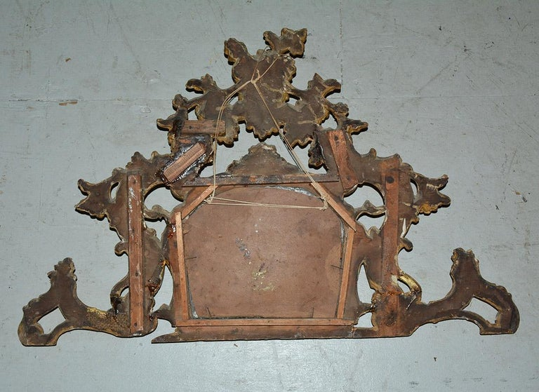 Small 19th Century Venetian Giltwood over Mantel Mirror For Sale 2