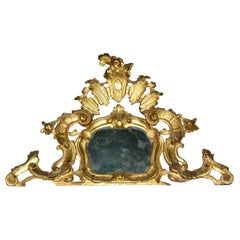 Small 19th Century Venetian Giltwood over Mantel Mirror
