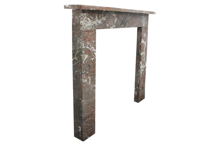 Small 19th Century Victorian Rouge Marble Fireplace Surround In Good Condition For Sale In Manchester, GB