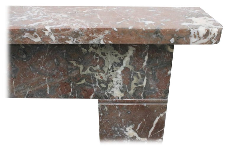 Small 19th Century Victorian Rouge Marble Fireplace Surround For Sale 1