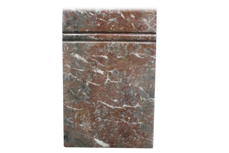 Small 19th Century Victorian Rouge Marble Fireplace Surround For Sale 4