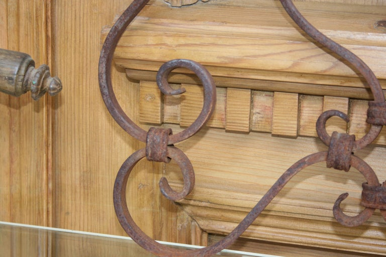 Small 19th Century Wrought Iron Window Grills or Grates, Set of 5 For Sale 7