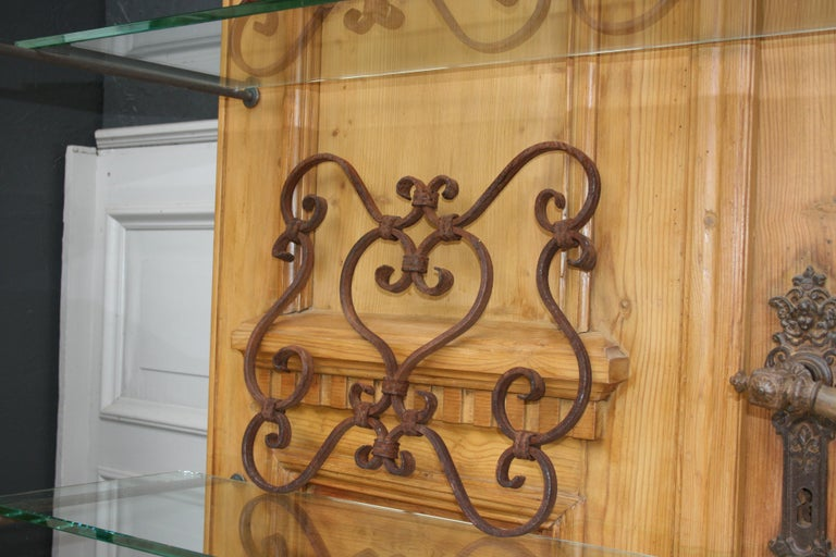 European Small 19th Century Wrought Iron Window Grills or Grates, Set of 5 For Sale