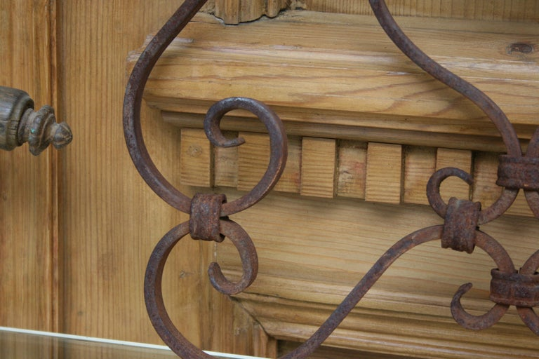 Small 19th Century Wrought Iron Window Grills or Grates, Set of 5 For Sale 1