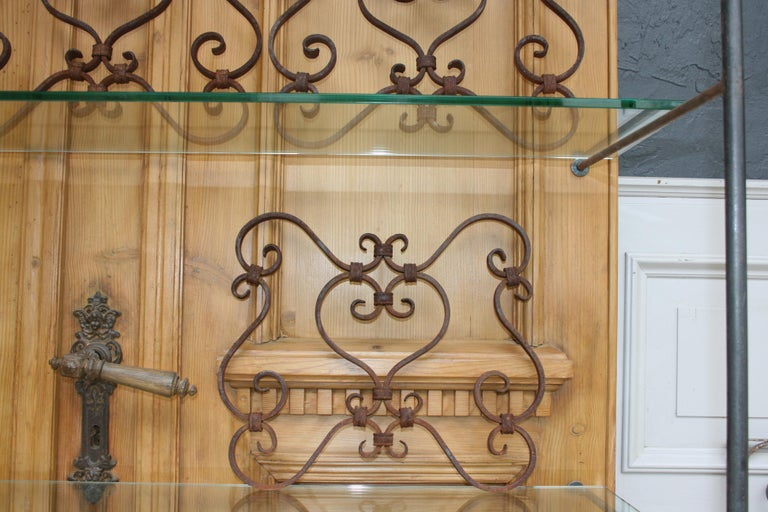 Small 19th Century Wrought Iron Window Grills or Grates, Set of 5 For Sale 4