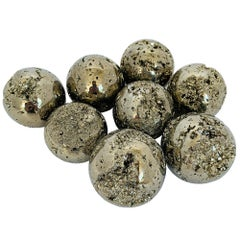 "Small 2"" Diameter Small Polished Pyrite Spheres"