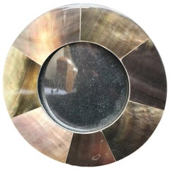 Small 20th Century Capiz Shell Round Picture Frame