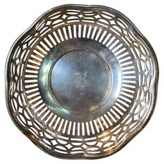 Small 20th Century Gorham Silver Plate Bowl with Engraved B, Marked
