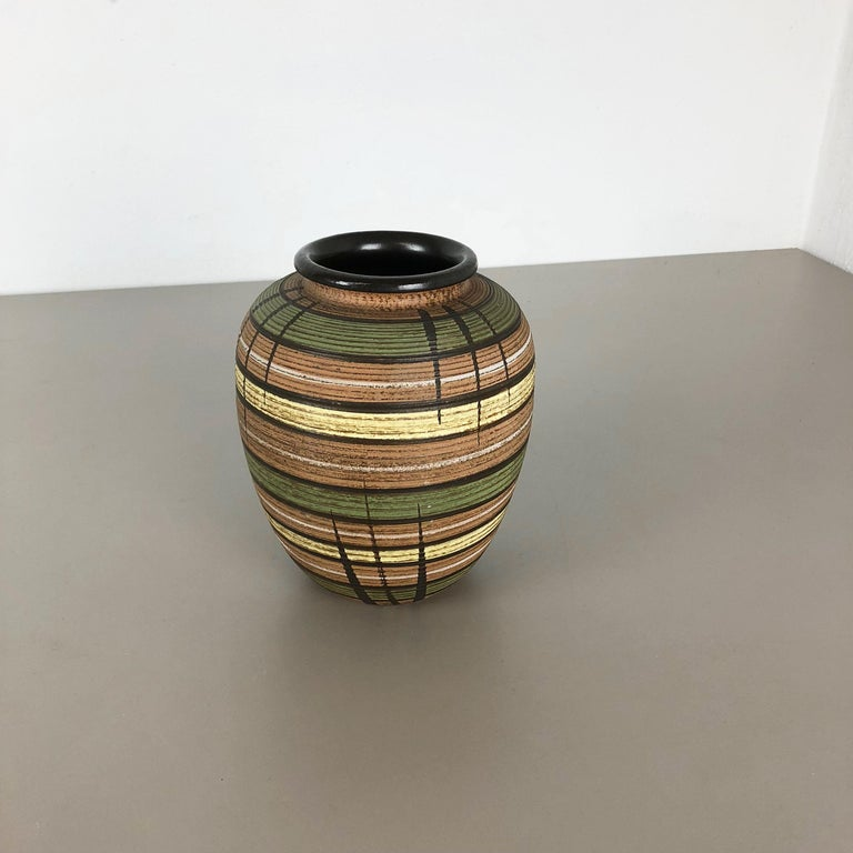 Mid-Century Modern Small Abstract Ceramic Pottery Vase by Dümmler and Breiden, Germany, 1950s For Sale
