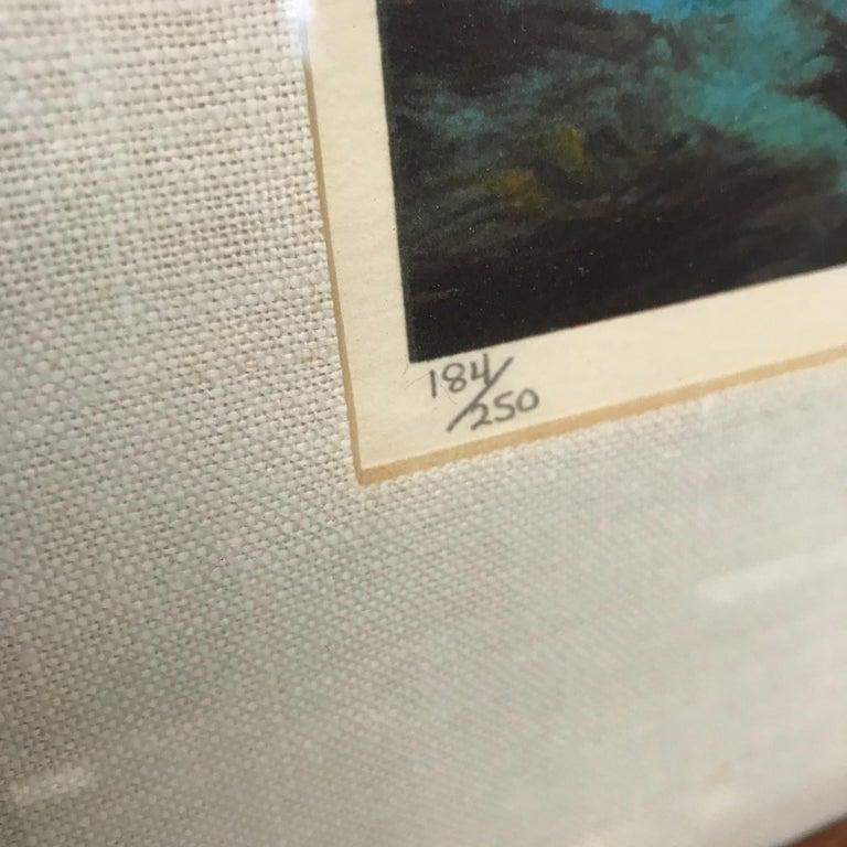 Modern Small Abstract Wall Art Leonardo Nierman Lithograph #2 Signed 184/250 For Sale