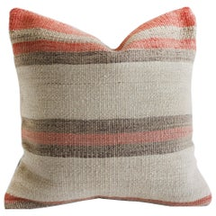 Small Accent Pillow with Multicolored Stripes