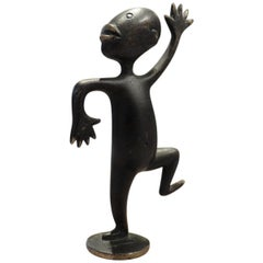 Small Africanist Bronze Child by Richard Rohac, 1950s