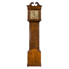 Small and Attractive, Late 19th Century Oak Longcase Clock