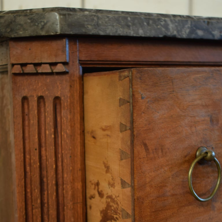 Small and Early 19th Century French Empire Mahogany Chest of Drawers For Sale 1