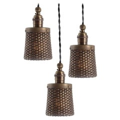 Small and Elegant Brass Basket Pendent