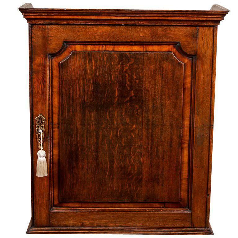 Small Antique 18th Century Georgian Oak Cabinet