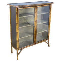 Small Antique Bamboo Bookcase
