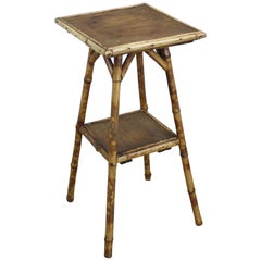 Small Antique Bamboo Side Table
