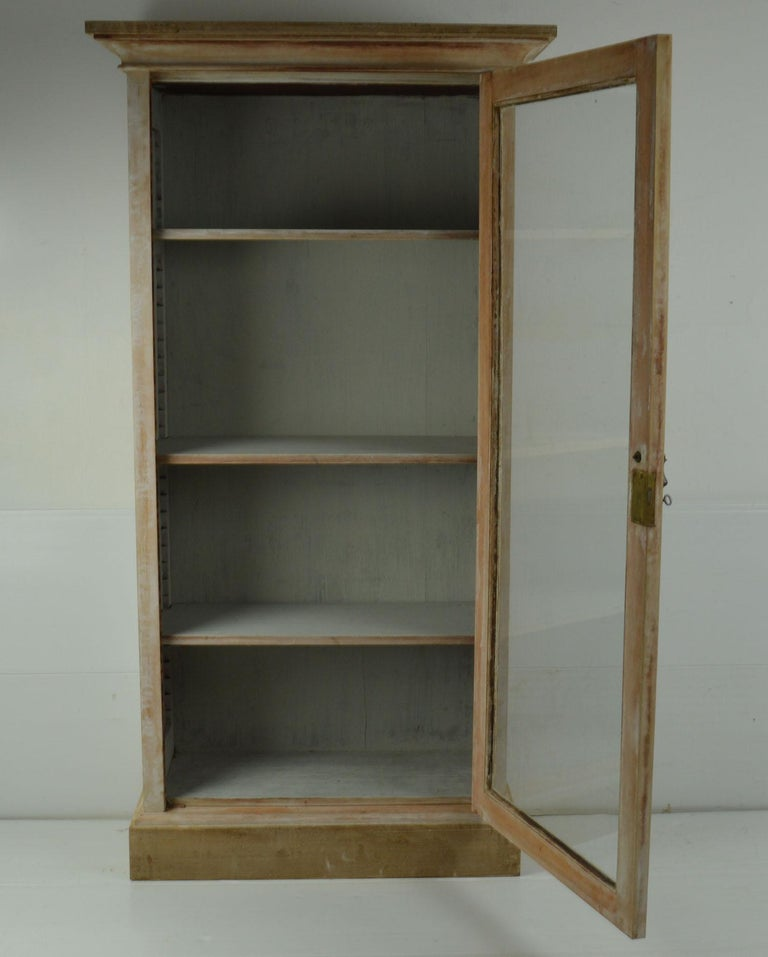 Small Antique Bleached Mahogany Cabinet or Bookcase In Good Condition For Sale In St Annes, Lancashire