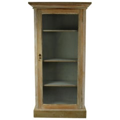 Small Antique Bleached Mahogany Cabinet or Bookcase